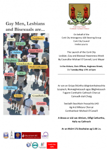 Invite to Launch of LGB awareness week 2011