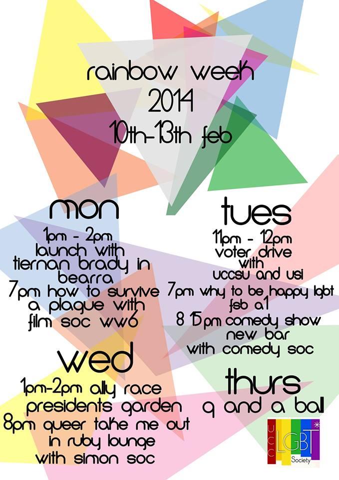 UCC Rainbow Week 2014